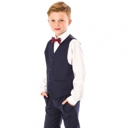 Boys Navy 4 Piece Bow Tie Suit with Trousers